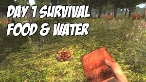7 days to die tutorial day 1 survival food water no cooking