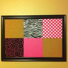 diy bulletin board cork tiles covered with gift ideas