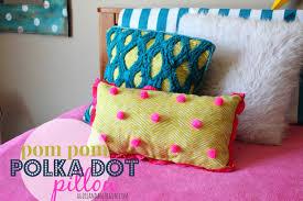 Pom Pom Polka Dot Pillow Tutorial