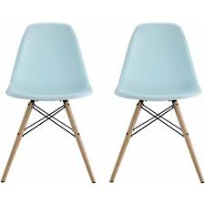 Types Of Chair Legs by Dhp Mid Century Modern Molded Chair With Wood Leg Set Of 2