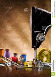 Sewing Supplies Copy Space Royalty Free Stock Image