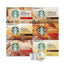 Starbucks Flavored Coffee K Cup Variety Pack For Keurig Brewers 6 Boxes Of 10