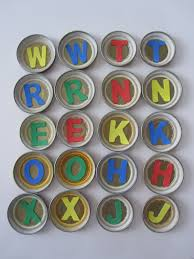 Jar Lid Letter Game