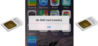 2 Tips ampuh Mengatasi Sim card Error tidak terbaca di iPhone no