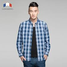 Men Shirt Casual Shirts Slim Lang Spring Retro Dress G Long Sleeve 100 Cotton Plaid New Fit Camisa Masculina