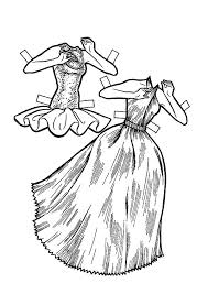 Ballet Tutu Doll Dress Colouring Page Coloring