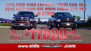 RAM Truck Sale At Eide Chrysler-Eide Chrysler Bismarck Car ... Ram Trucks In Louisville Oxmoor Chrysler Dodge Jeep You Can Get A New For Crazy Cheap Because Not Enough People Are Truck Specials Denver Center 104th 2018 Sales And Rebates Performance Cdjr Of Clinton Car Cape May Court House Model Research Gilroy Ca South County Ram Grapevine Dealer Near Fort Worth Landmark Atlanta Lease Suv Sauk City On Allnew 2019 1500 Canada World Incentives