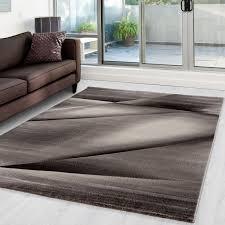 moderner designer wohnzimmer teppich miami 6590 braun größe 80x150 cm