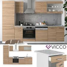 details zu vicco küche r line 300 cm küchenzeile küchenblock einbauküche sonoma eiche