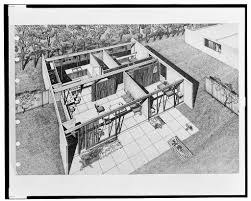 100 Architect Paul Rudolph FileLamolithic House Aerial Perspective