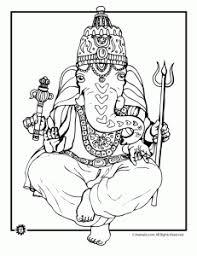 Ganesha Indian Elephant Coloring Page