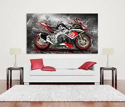 leinwand bild aprilia rsv4 motorrad abstrakt wand bilder kunst druck deko ebay