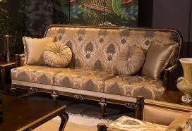 casa padrino luxus barock sofa grau braun gold 221 x 80 x h 110 cm wohnzimmer sofa mit elegantem muster und dekorativen kissen edle