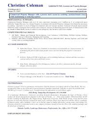 Sample Resume For Manager Commercial Property Manager Resume Sample