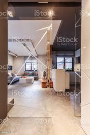 glastür im wohnzimmer stockfoto und mehr bilder blei