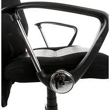 fauteuil de bureau tissu de bureau condor en polyuréthane et tissu maille noir