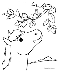 Coloring Pages Printable Horse Print A Book Amazing Leaves Bird Small Azcoloring Kids Sheets Worksheets