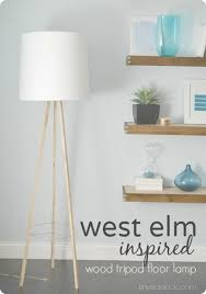 West Elm Overarching Floor Lamp Bronze by West Elm Inspired Tripod Floor Lamp Knock Off Decor Series