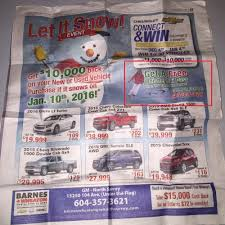 Newspaper Ad With Promotion Dealership Refused To Honour (see ... Feel Good Fitness Personal Traing South Surrey Barnes Wheaton Gm A Delta And White Rock Chevrolet Home Facebook North Bodyshop Youtube Rewards Program Blog Autogroup The Barnesified Food Bank Drive 2011 Cruze Ltz Walk Around Video In Is A Buick Gmc Buy Parts