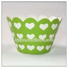 Standard Base Diameter 2 Printed Heart Design Muffin Cases Cake Paper Mould Cupcake Wrapper For Baby Shower With Free Shipping