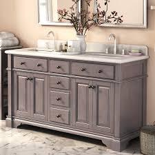 abel 60 inch rustic double sink bathroom vanity marble top