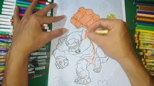 Coloring Humungousaur Ben 10 Alien Force