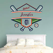 fathead baby wall decor detroit tigers personalized name detroit tigers wall decals and