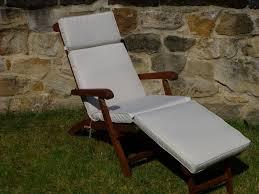 uk gardens cream beige garden furniture steamer chair cushion
