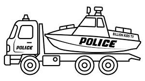 100 Truck Colors Exclusive Idea Vehicle Coloring Pages Police Car Carrier