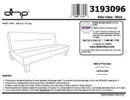 Kebo Futon Sofa Bed Assembly Instructions by Dorel Home Products Kebo Futon Roselawnlutheran