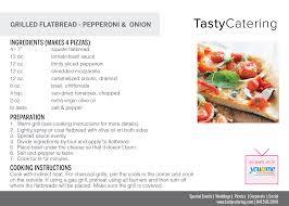 Flat Breadpepperoni And Onion Recipe Card