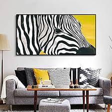 geiqianjiumai kunst zebra tier bild leinwand malerei wand