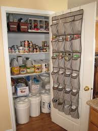 Fabric Sack Cupboard Organizers In Grey For Kitchen Decoration Ideas
