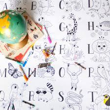 Atelier Rue Tabaga Affiche à Colorier Géante Boutique Planète Bébé