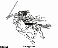 Aragorn The Lord Of Rings Meriadoc Hobbit Merry Coloring Page