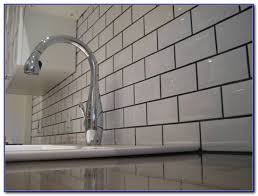 Grey Tiles White Grout by White Subway Tile Backsplash With White Grout Tiles Home