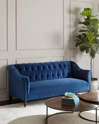 Tufted Velvet Sofa Bed by Haute House Raina Tufted Velvet Sofa