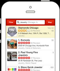 Search Results From The Yelp IPhone App Taken On April 2nd 2014