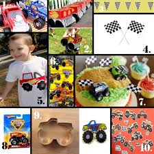 99 Monster Truck Party Favors Birthday Invitations