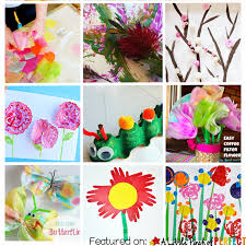15 EASY SPRING CRAFTS Perfect For Toddlers Preschoolers And Creative Kids Flowers