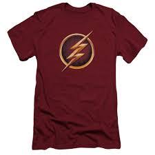 flash tv slim fit t shirt symbol mens red
