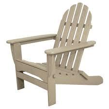 polywood south beach sand plastic patio adirondack chair sba15sa