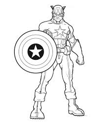 Marvel Avengers Coloring Pages Captain America