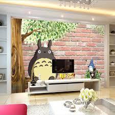 3D Japanese Anime Photo Wallpaper Lovely Totoro Custom Large Mural Cartoon Room Decor Silk Wall Art Bedroom Kid In Wallpapers From Home