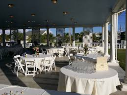 Outdoor Reception Venue Galveston Island Palms White Garden Chair Set Up