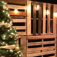 Mason Jar Lights With Pallets
