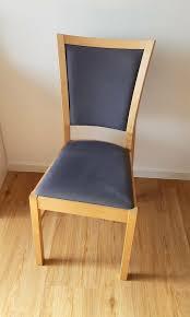 6x stühle fürs esszimmer birke blau ikea 50euro