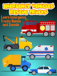 100 Funny Truck Names Amazoncom Watch Emergency Vehicles Rescue S Learn Emergency