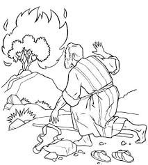 Moses And The Burning Bush Coloring Pages Regarding Encourage To Color Page