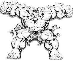 Printable Incredible Hulk Coloring Pages